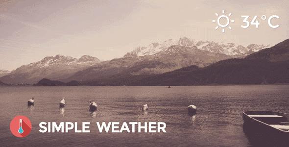 Simple Weather Plugin – Weather Wordpress Shortcode & Widget