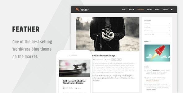 Feather - Clean Flat Responsive Wordpress Blog Theme