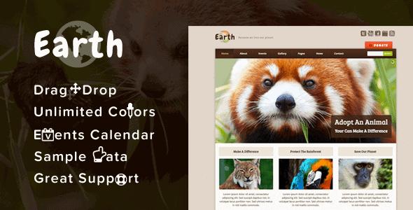 Earth – Eco/Environmental Nonprofit Wordpress Theme
