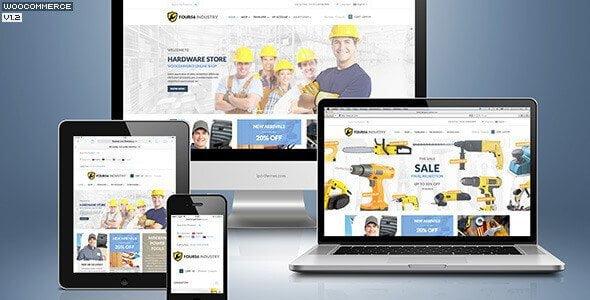456 Industry – Repair Tools Shop & Construction Building Renovation Wp Theme