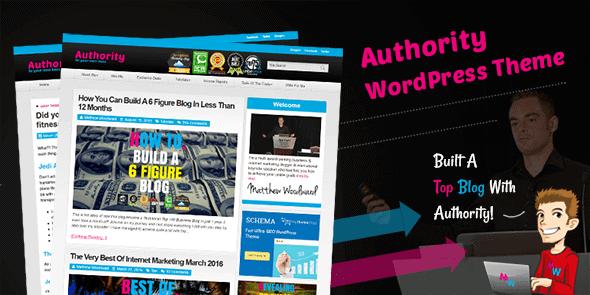 Authority - Blogging Wordpress Theme