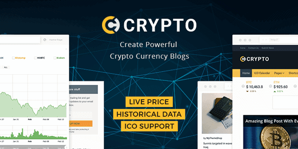 Crypto – A Bitcoin & Cryptocurrency Wordpress Theme