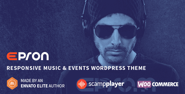 Epron – Responsive Music & Events Wordpress Theme
