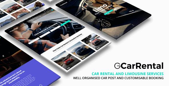 Grand Car Rental   Limousine Car Rental Wordpress