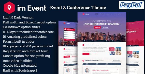 Im Event – Event & Conference Wordpress Theme