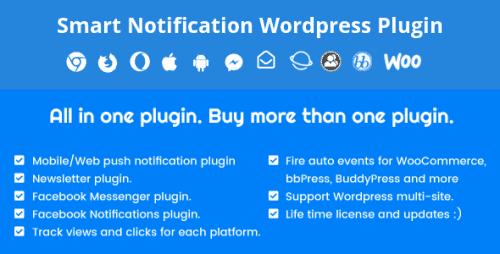 Smart Notification Wordpress Plugin. Web & Mobile Push
