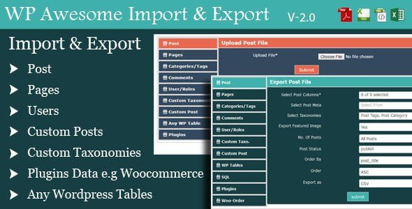 Wordpress Awesome Import & Export Plugin