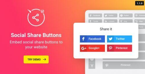 Wordpress Social Share Plugin – Share Buttons