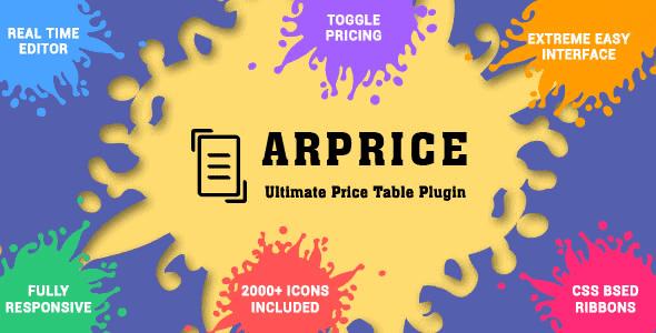 Arprice – Wordpress Pricing Table