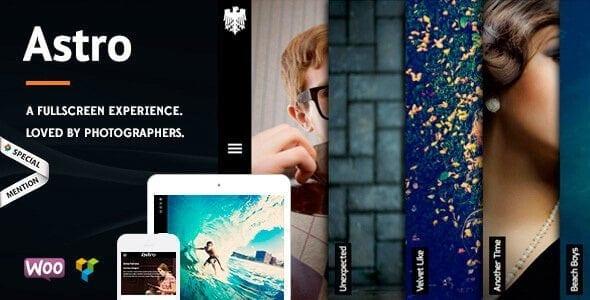Astro – Showcase Photography Wordpress Theme