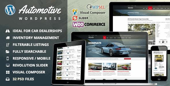 Automotive – Car Dealership Business Wordpress Theme