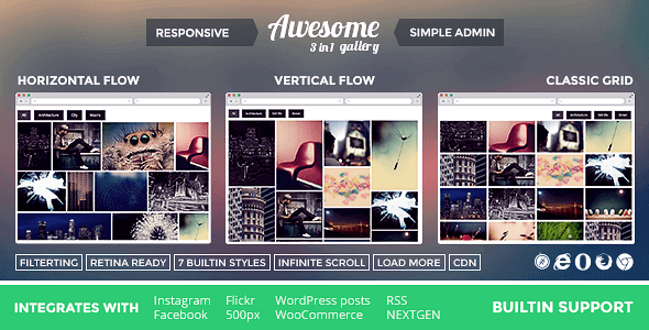 Awesome Gallery – Instagram Flickr Facebook Galleries On Your Site