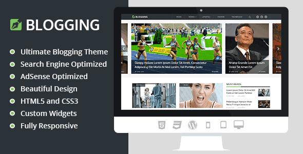Blogging – Beautiful & Responsive Blogging Wordpress Theme