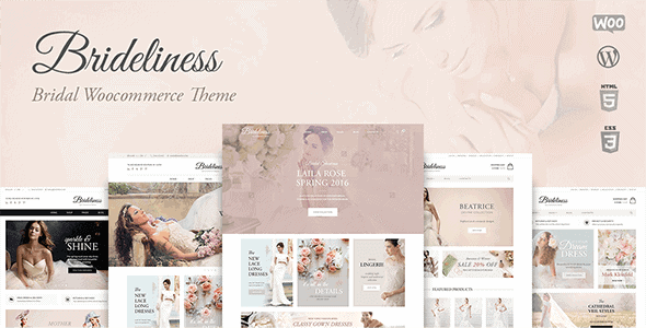 Brideliness – Wedding Shop Wordpress Woocommerce Theme