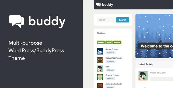 Buddy – Multi-Purpose Wordpress Buddypress Theme