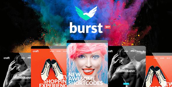Burst – A Bold And Vibrant WordPress Theme