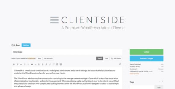 Clientside – Wordpress Admin Theme