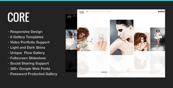 Core – Minimalist Photography Portfolio