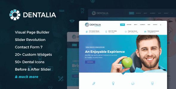Dentalia – Dentist & Medical Wordpress Theme