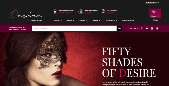 Yith Desire Sexy Shop – An Intriguing Theme For A Site As Strong As Easy To Use