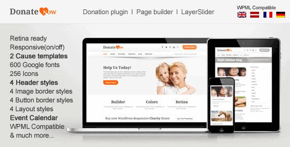 Donatenow – Wordpress Theme For Charity