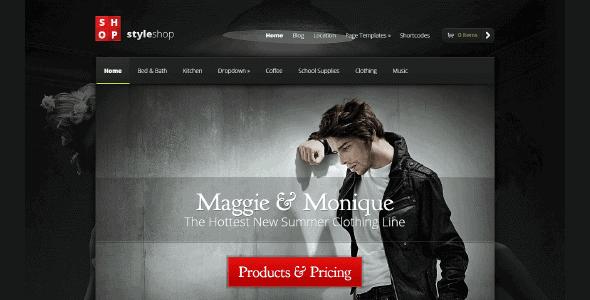 Styleshop – Sleek And Powerful Ecommerce Wordpress Theme