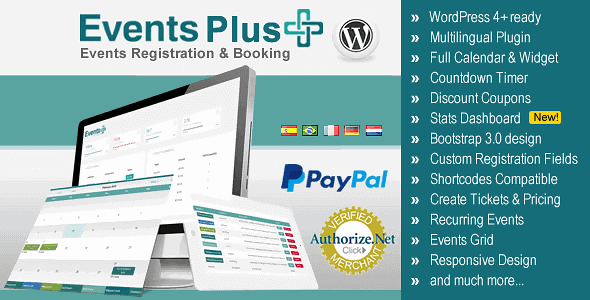 Events Plus – Wordpress Events Calendar Registration & Booking