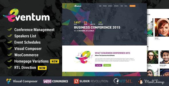 Eventum – Conference & Event Wordpress Theme