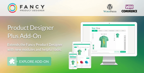 Fancy Product Designer Plus Add-On Woocommerce/Wordpress