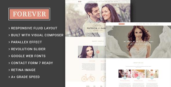 Forever – Wedding Couple & Wedding Planner Agency Wordpress Theme