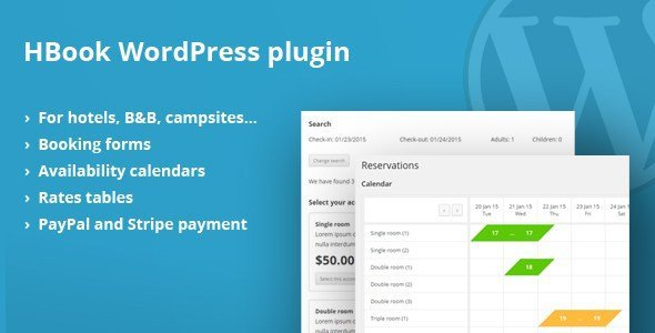 Hbook – Hotel Booking System – Wordpress Plugin