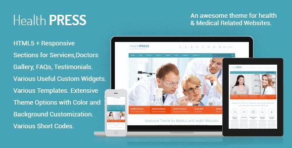 Healthpress – Health And Medical Wordpress Theme