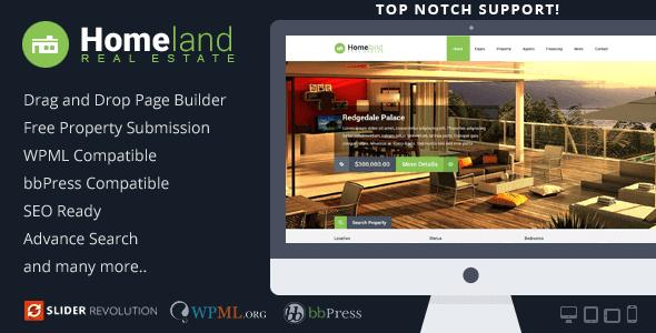 Homeland – Responsive Real Estate Wordpress Theme