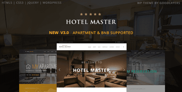 Hotel Master – Hotel & Hostel Booking Wordpress Theme