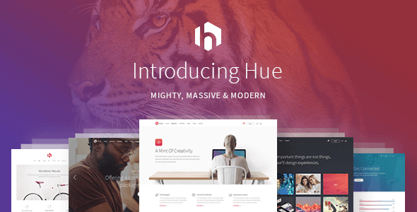Hue – A Mighty Massive & Modern All-Encompassing Multipurpose Theme