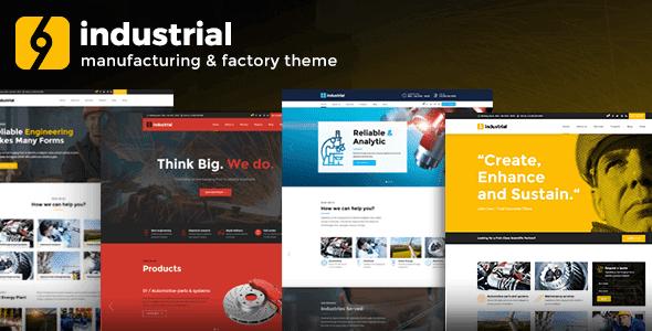 Industrial – Industry & Factory Wordpress Theme
