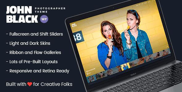 Johnblack – Photography Fullscreen Wordpress Theme