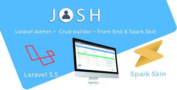Josh – Laravel Admin Template + Front End + Crud