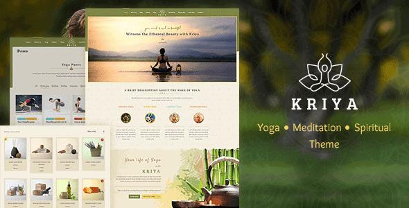 Kriya Yoga – Health & Yoga Wordpress Theme