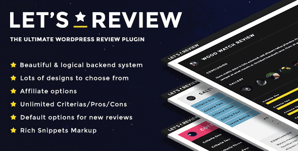 Let'S Review – Wordpress Review Plugin With Affiliate Options