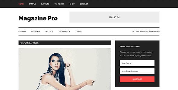 Studiopress Magazine Pro