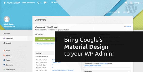 Material Wp – Material Design Dashboard Theme
