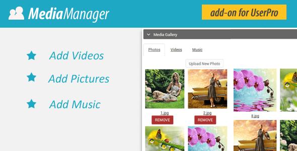 Userpro Media Manager