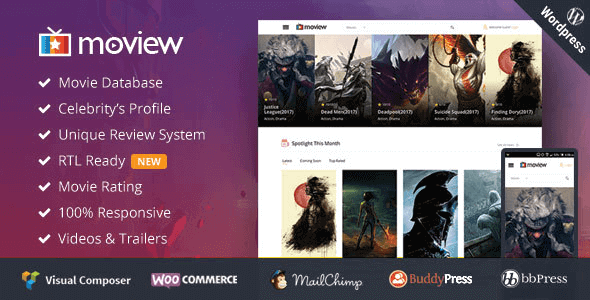 Moview – Responsive Film Video Db & Review Theme
