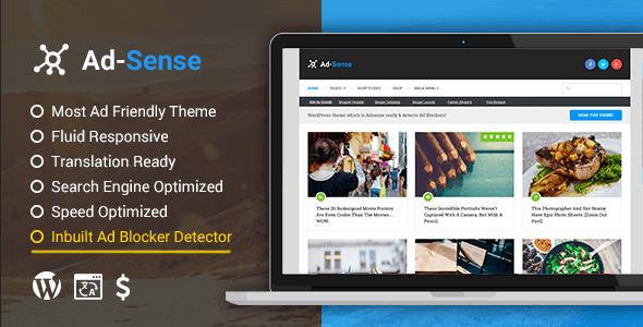 Ad-Sense – Premium Wordpress Blog Theme