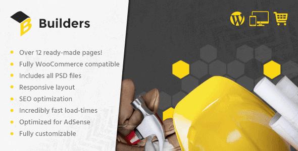 Builders – Wordpress Theme For Construction Websites