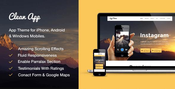 Cleanapp – Perfect App Wordpress Theme