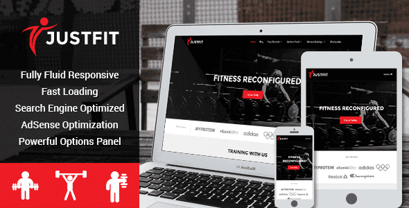 Justfit – Responsive Health Wordpress Theme