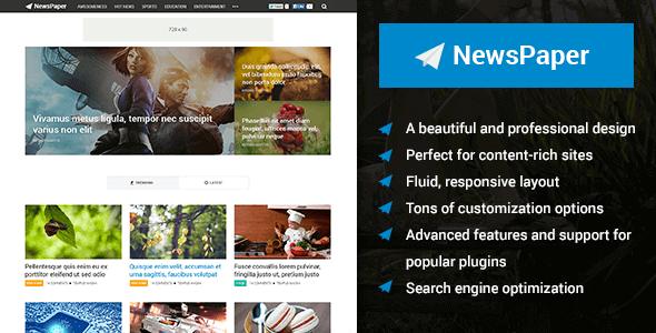 Newspaper – Beautiful Magazine Wordpress Theme