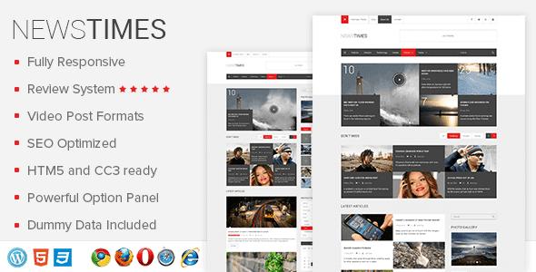 Newstimes – Premium Wordpress News Theme